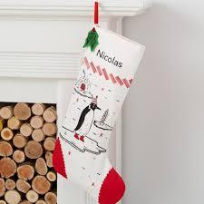 Stocking Penguin Yuletide Personalized Christmas Stocking The Land Of Nod