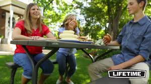 Lifetime Folding Picnic Table Assembly Instructions by 60135 4 Ft Picnic Table Youtube
