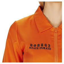 Orange Prison Jumpsuit Halloween Costume Women U0027s Prison Jumpsuit Costume Small Target