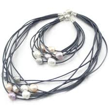 necklace leather cords images Free shipping gift boxed or bag packed 100 multi strand leather jpg