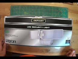 defiant led motion security light manual defiant security light unboxing and installation youtube