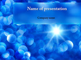 free blue snowflakes powerpoint template u0026 background for