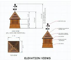 Cupolas For Barns Shed Cupola Plans Dimensions Barn Plans And Ideas Pinterest