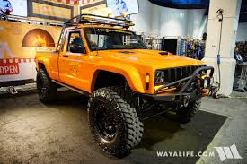 jeep pickup comanche 2017 sema jcr offroad orange jeep comanche