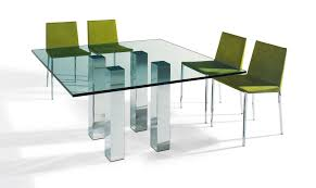 modern din 06 6 seater glass top dining table modern glass dining