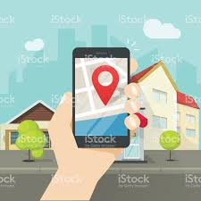 Map Geo Mobile City Map Location Smartphone Gps Navigator Town Roadmap Pin