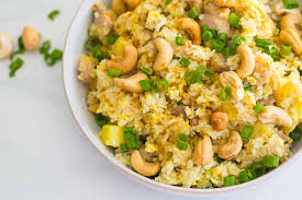 pineapple and cashew curried fried rice cook smarts