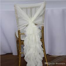 ruffled chair covers ruffled chair sashes white ivory chagne chair covers custom