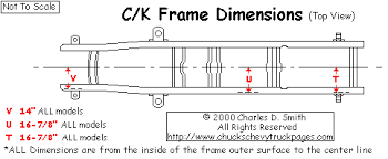 chevy truck frame dimensions and specs chuck u0027s chevy truck pages com