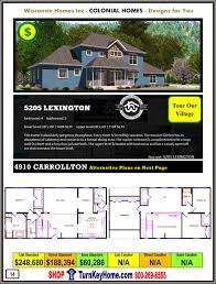 colonial modular home prices from wisconsin homes inc colonial