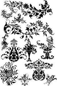 floral corner flowers vector vintage ornamental design elements