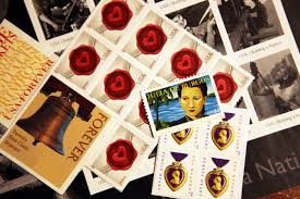 how to affix multiple stamps to an envelope synonym