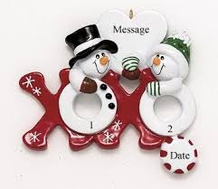buy hugs and kisses ornament personalized with