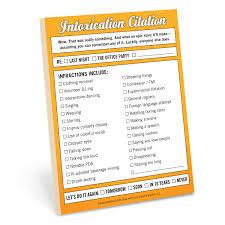 From The Desk Of Notepads Knock Knock Intoxication Citation Notepad Knockknockstuff Com