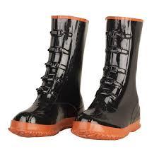 enguard men size 15 black heavy duty pvc 5 buckle boots eg5 15