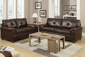 Bonded Leather Loveseat 2 Piece Bonded Leather Espresso Sectional Set By Poundex F7581