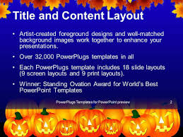halloween email background powerpoint template halloween theme with pumpkins reflecting in