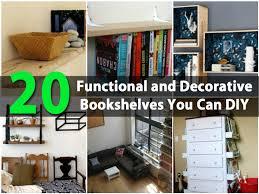 20 functional and decorative bookshelves you can diy diy u0026 crafts