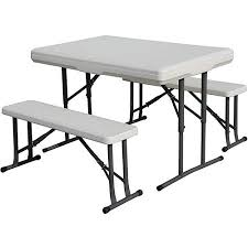 Plans For A Picnic Table With Separate Benches by Stansport Camp Table With Folding Bench Seats Walmart Com
