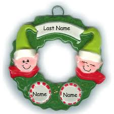 wreath family of 4 ornament