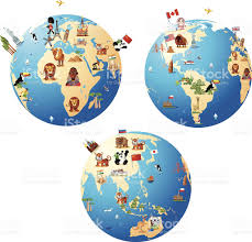 World Map Cartoon by Cartoon Map Of World Stock Vector Art 157345744 Istock