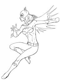 free coloring pages batgirl comic book coloring pages