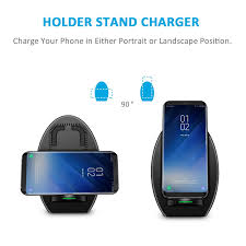 charge your phone qi fast charge wireless charger stand with cooling fan