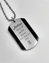 dog tag jewelry engraved engraved stainless steel dog tag necklace with gem