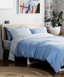 chambray quilt cover set