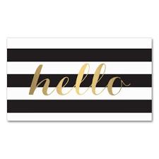 decorative initial logo customizable personal business card