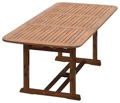 Acacia Wood Outdoor Furniture acacia wood patio butterfly table transitional outdoor dining