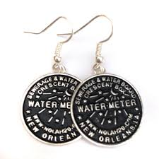 new orleans water meter necklace new orleans water meter necklace and earrings magnolia blvd