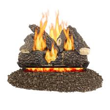 vent free gas logs fireplace logs the home depot