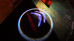 citroen logo citroen logo car led light door youtube