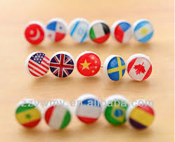 Map Tacks Cute Small National Flag Map Pins Lovely Office Pins View