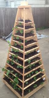 How To Plant Vertical Garden - how to build a vertical garden pyramid tower for your next diy