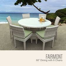 tk classics fairmont 60 inch outdoor patio dining table with 6