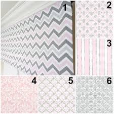 pink grey valance gray window treatment nursery valance taupe