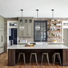 houzz blue kitchen cabinets 75 beautiful kitchen with green cabinets pictures ideas
