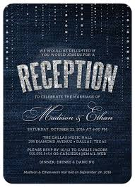 wedding reception invitation post wedding reception only invitations denim diamonds