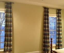 Blue Plaid Curtains Blue Green Brown Silk Plaid Curtain Panels Traditional