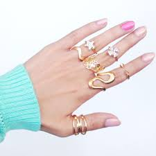 7 pc rings and midi rings set my pretty blings