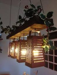 Funky Kitchen Lights Top 10 Diy Upcycled Light Fixtures Grater Kitchen Decor