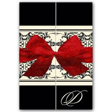 Red And Black Wedding Invitations Elegant Overlay Black Red Gatefold Wedding Invitations Paperstyle