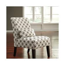 Armless Accent Chair Annora Chenille Armless Accent Chair In Brown