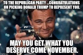 Republican Memes - leonardo dicaprio cheers meme imgflip