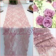 dusty rose table runner dusty rose lace table runner weddings by lovelylacedesigns pink