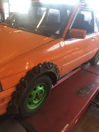 lifted subaru justy flexible fender flares on a justy made out of old tires don u0027t you
