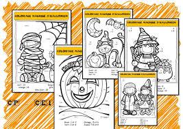 coloriages magiques d u0027halloween la classe de corinne