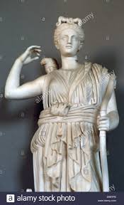 diana ancient roman goddess of hunting and the moon artemis in